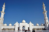 Sheik Zayed Grand Mosque, Abu Dhabi, UAE. This architectural work of art is one the world's largest mosques, with a capacity for an astonishing 41,000...