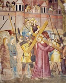 Christ Carrying the Cross, detail from Passion and Resurrection of Christ, fresco by Andrea Di Bonaiuto (active from 1343 to 1377), 1365-1367. Spanish...