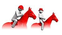 Equestrian Eventing 3D symbol