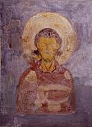 St Sebastian, fresco, Chapel of St Sebastian, St John Lateran's Archbasilica, Rome. Italy, 12th century.