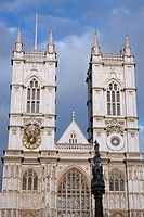 Facade of Westminster Abbey, London, England, UK