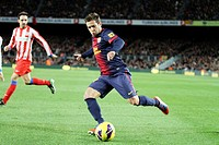 16/12/2012, NOU CAMP, BARCELONA  Jordi Alba attempts controls the ball during the match