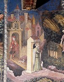 The Month of July, panel taken from Cycle of the Months, by Master Venceslao, fresco, Tower Aquila, Buonconsiglio Castle, Trento, Trentino-Alto Adige....