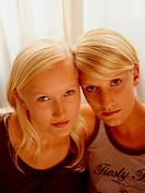 Two blonde young women