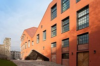 The new building at Narva College, Red brick building exterior