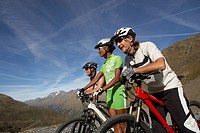 Mountainbikers in Alpine Landscape