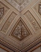Detail of neoclassical decoration in the Hayez room, Royal Villa, Milan. Italy, 18th century.