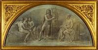 Parnassus, by Andrea Appiani (1754-1817), Royal Villa, Milan. Italy, 18th century.