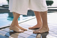 Couple with bare feet