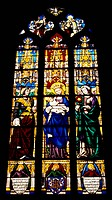 Stained-glass window from Church of Saint Michel, Dijon, Burgundy. France.