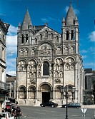Exterior of the Cathedral of Saint-Pierre, Angouleme. France, 12th century.
