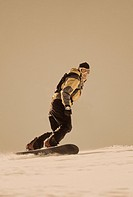 Snowboarder Carving a Turn