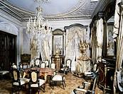 Interior of the hall, Palazzo Morpurgo, Trieste, Friuli-Venezia Giulia. Italy, 19th century.