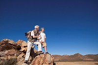 Mature Couple on Mountain Peak