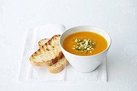 Pumpkin soup with chives