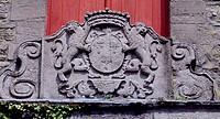 Relief with crest, Ecaussinnes-Lalaing Castle. Belgium.