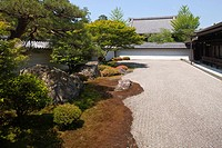 Stone garden at Nanzen_ji temple, Kyoto, Japan