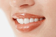 Woman´s Smiling Lips