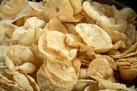 South Indian food , Pappadam Papad supplementary crispy disks made with pulses and spices served with lunch or dinner