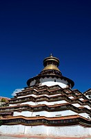 Grand pagoda at Gyangze lamasery,Tibet