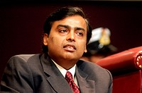 South Asian Indian businessman Mukesh Ambani is the Chairman & Managing director of the Reliance Industries , india NO MR