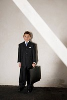 Young Boy as Businessman