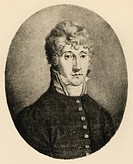 Portrait of Carl August Cannabich (Mannheim, 1771 - Monaco, 1806), German composer and violinist. Engraving.  Milan, Museo Teatrale (Scala), Bibliotec...
