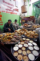 Prasad stall for devotees at Shreenathji temple , Rajasthan , India