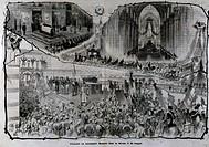 The funeral of Alessandro Manzoni (1785-1873), Milan, May 29, 1873. Italy, 19th century.  Milan, Biblioteca Comunale Centrale Di Palazzo Sormani (Libr...