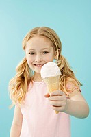 Little girl holding an ice cream cone