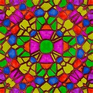 Stained glass caleidoscope