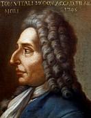 Portrait of Tommaso Antonio Vitali (Bologna, 1663 - Modena, 1745), Italian violinist and composer.  Bologna, Civico Museo Bibliografico Musicale (Musi...
