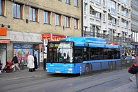 Blue bus , Gothenburg , Sweden