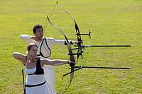 Two Archers Aiming