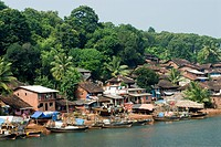 Fisherman's village on creek name varavde , district Ratnagiri , Maharashtra , India