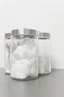 Cotton Balls and Swabs in Jars
