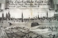 View of Munich from the South, 1701, Germany 18th Century