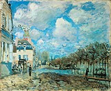 Flood at Port-Marly, 1876, by Alfred Sisley (1839-1899), 50x61 cm.  Madrid, Museo Thyssen-Bornemisza