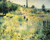 Pathway through the high grass, 1874, by Pierre-Auguste Renoir (1841-1919).  Paris, Musée D'Orsay (Art Gallery)