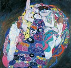 The virgin, 1913, by Gustav Klimt (1862-1918), oil on canvas, 190x200 cm.  Prague, Národní Galeri V Praze (National Fine Arts Museum)