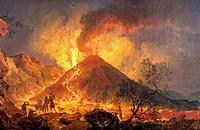 Volcano, by Joaquim Manuel da Rocha (1727-1786).  Lisbon, Museu Nacional De Arte Antiga (Art Museum)