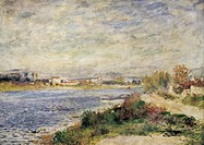 The Seine in Argenteuil, 1873, by Pierre-Auguste Renoir (1841-1919).  Paris, Musée D'Orsay (Art Gallery)