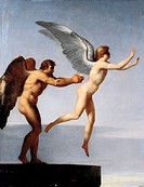 Daedalus and Icarus, 1799, by Charles Paul Landon (1760-1826), oil on canvas.  Alençon, Musée Des Beaux-Arts Et De La Dentelle (Art And Lace Museum)