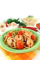 Spaghetti mit Shrimps und Dill