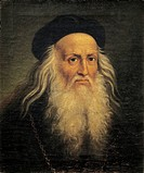 Portrait of Leonardo da Vinci, by Lattanzio Querena 1768_1853