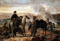 Giuseppe Landriani wounded at Balaclava, October 1854, by Sebastiano de Albertis 1828_1897. Crimean War, Ukraine, 19th century.
