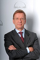 Samuelsson, Hakan, * 19.3.1951, Swedish businessman, half length, chairman of the Executive Board of MAN SE 2005 _ 2009, Munich, 6.11.2007,