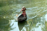 Boating in backwater , Kerala , India