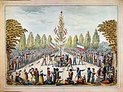 The tree of liberty, print. French Revolution, France, 18th century.  Paris, Hôtel Carnavalet (Art Museum)