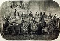 The Congress of Paris, March 1856. Crimean War, France, 19th century.  Turin, Museo Nazionale Del Risorgimento (History Museum)